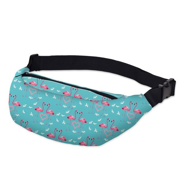 3D Printed Outdoor Silly Bean Waist Bags Collection Waist Packs deanfun Official Store Flamingo Lovers