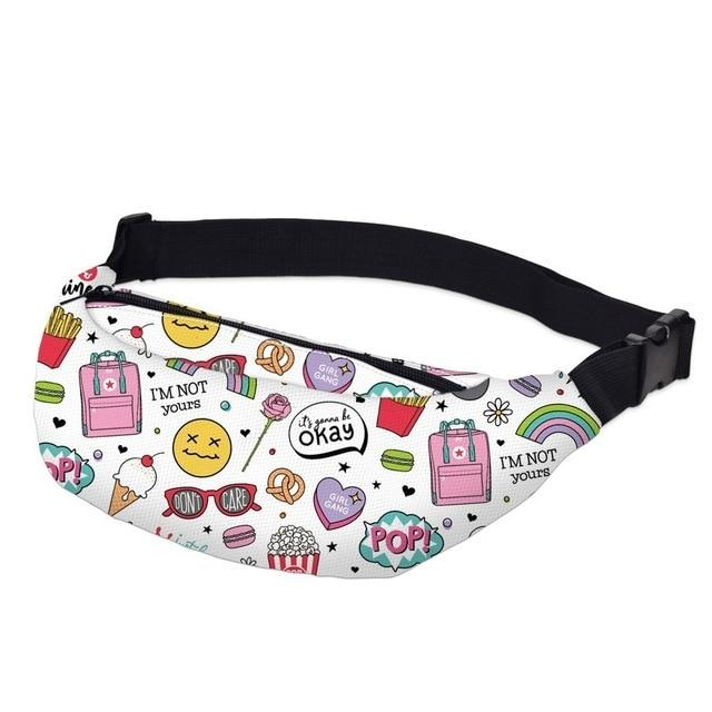 3D Printed Outdoor Silly Bean Waist Bags Collection Waist Packs deanfun Official Store Silly Emojis