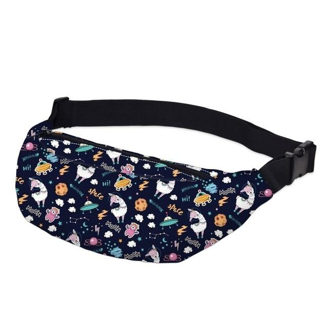 3D Printed Outdoor Silly Bean Waist Bags Collection Waist Packs deanfun Official Store Astro Spaceship Sheep Llama