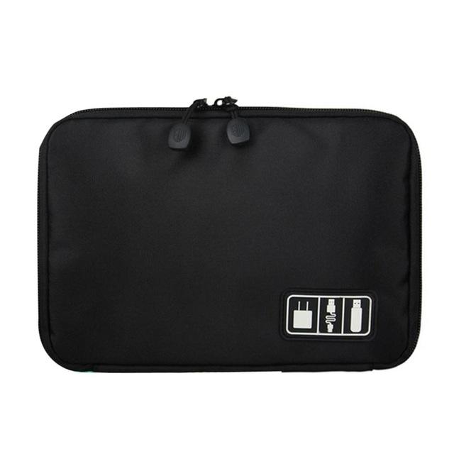 The King Portable Travel Cable Organizer Sleeve Bag For Storage - HABIT