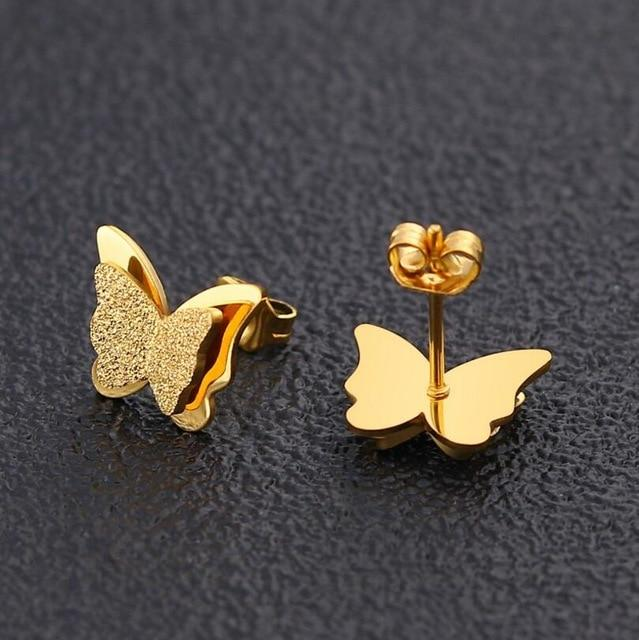 Teeny Tiny Stainless Steel Kawaii Cute Stud Earrings Set - HABIT