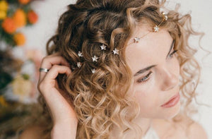 How to style wedding hair accessories with curly hair - with top tips for prepping and styling