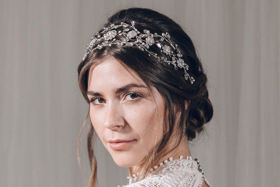 Cressida statement crown hairvine by Debbie Carlisle wholesale collection