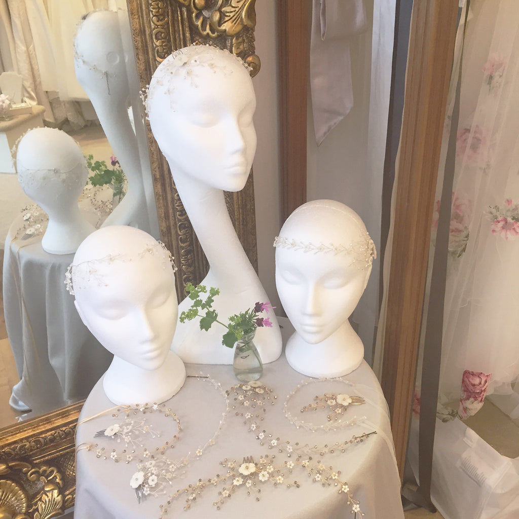 Debbie Carlisle bridal accessories at Julia Tasker Bridal Couture