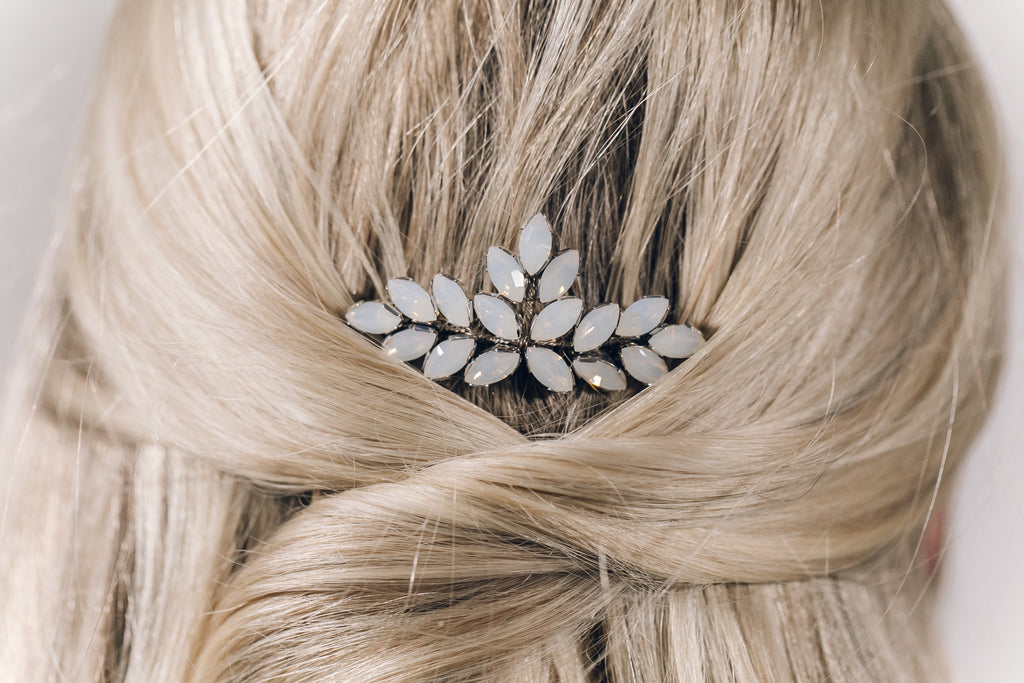 opal classic vintage wedding hair comb