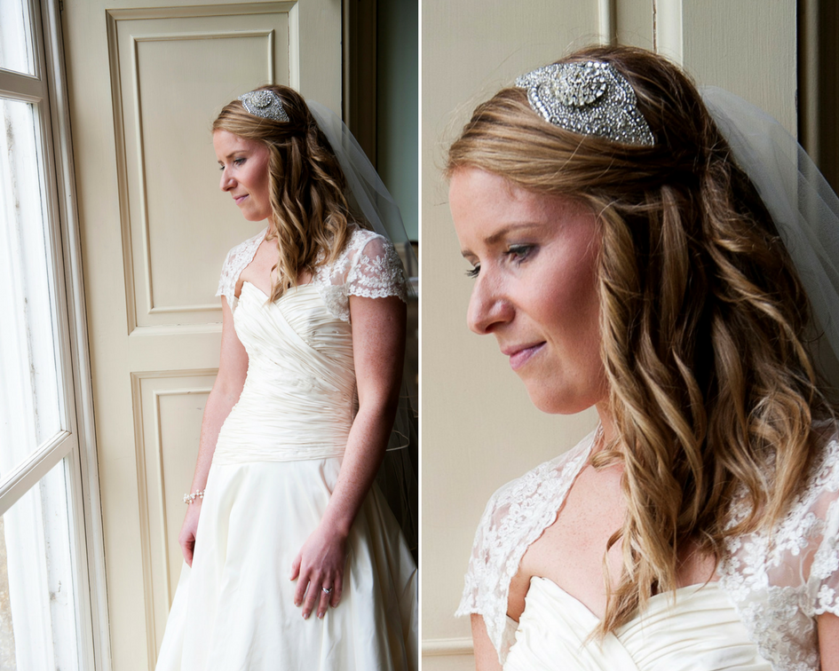 Debbie Carlisle Real Bride Diana Statement Crystal Bridal Headband