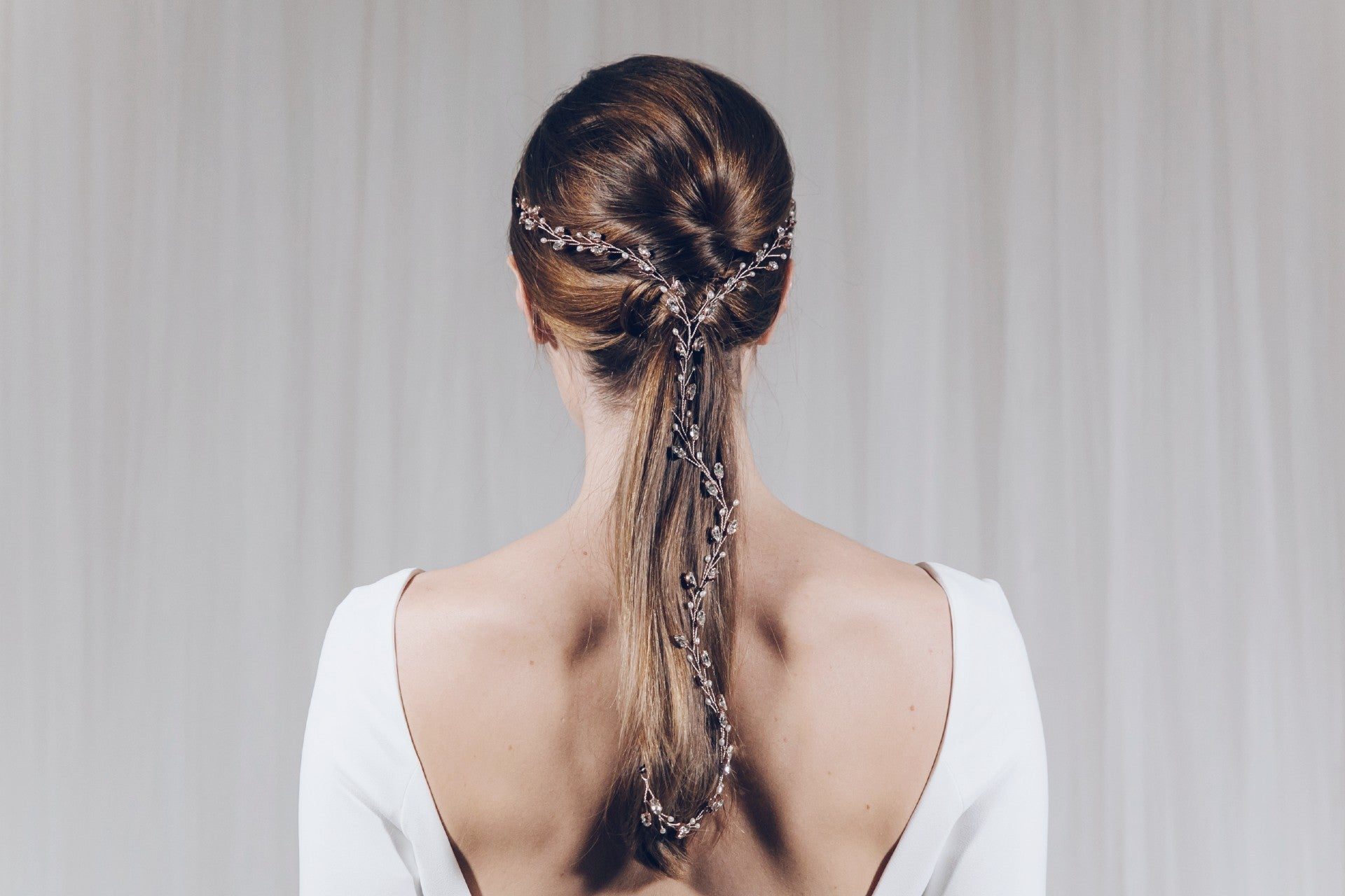Rose Gold Hair Accessories for Weddings India Y hairvine for ponytail