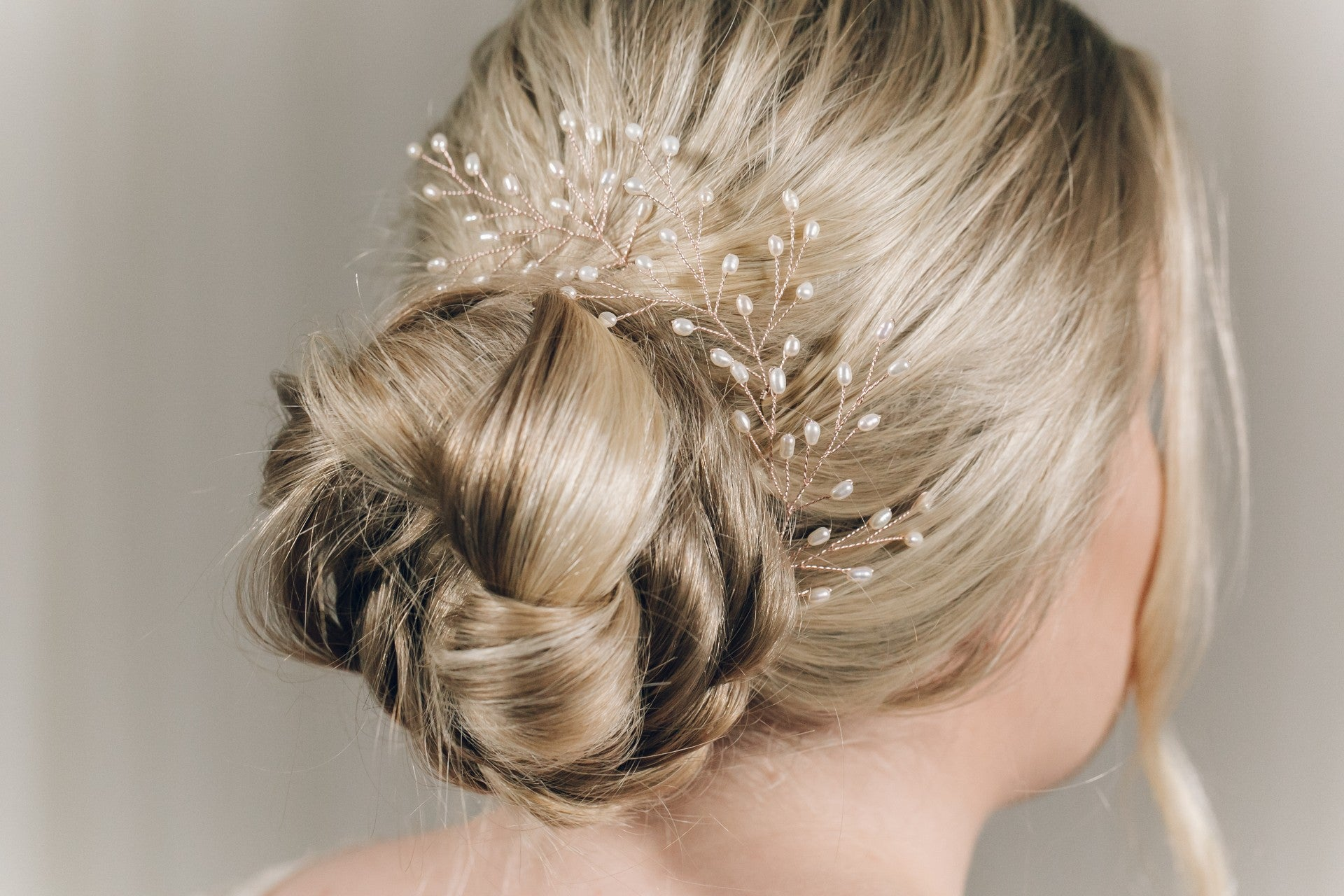 Rose Gold Hair Accessories for Weddings May pearl hair pins