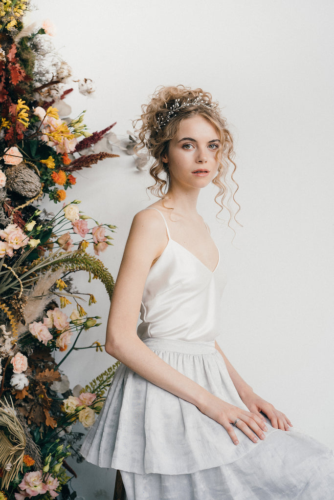 Rosemary pearl branch wedding crown