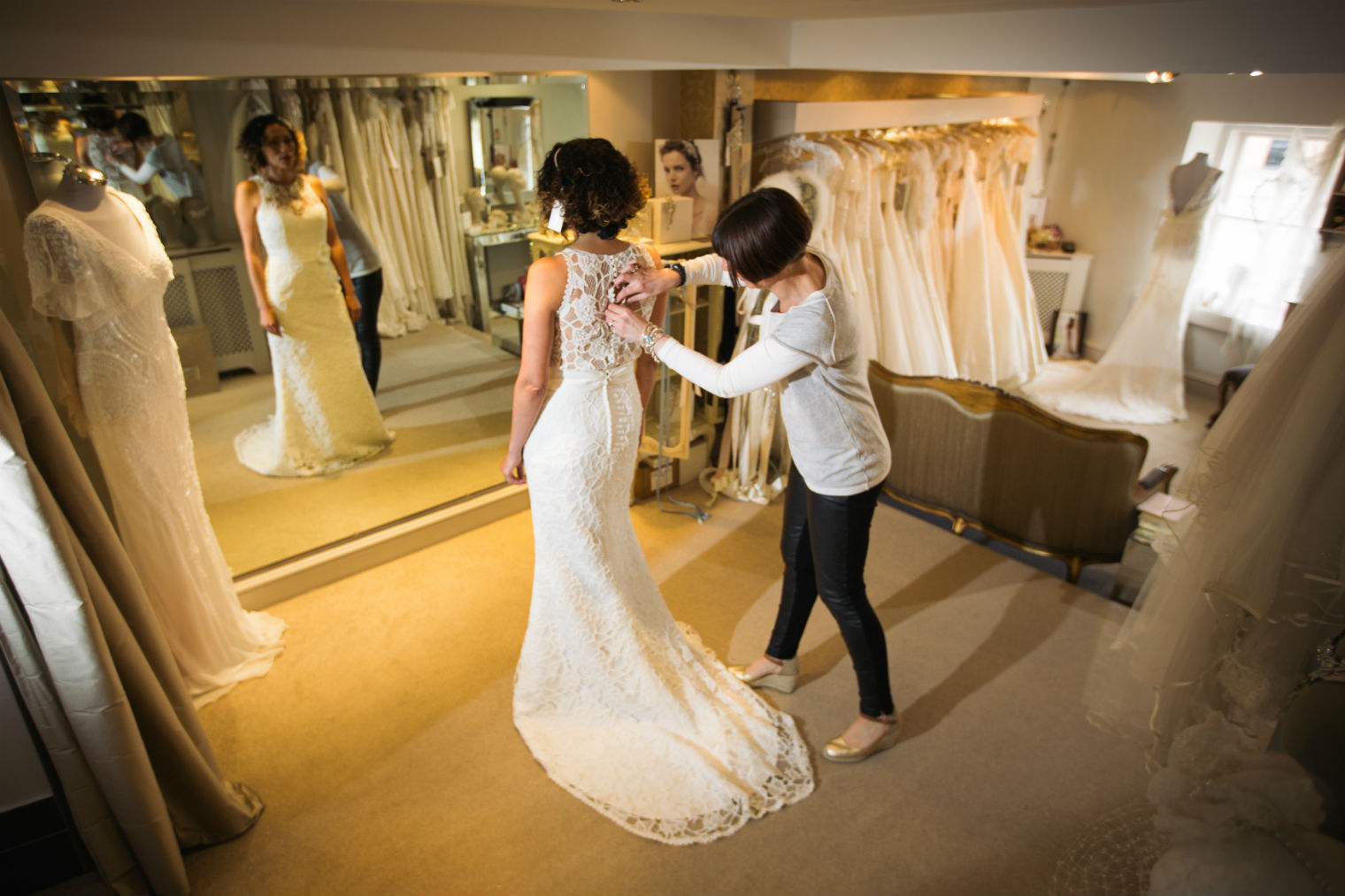 Sally White owner of White Bride bridal boutique in West Wales