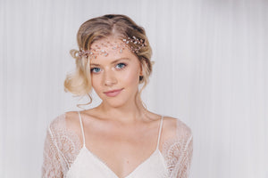Rose gold vintage bohemian browband hairvines