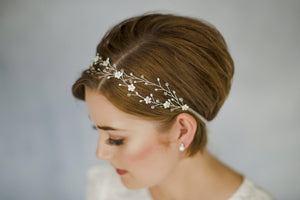 Crystal bohemian intertwined wedding hairvine - Anastasia