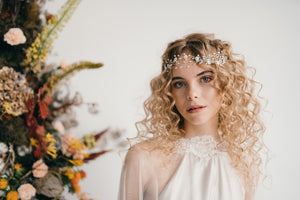 boho flower wedding hairvine