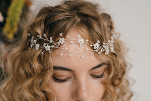 flower bridal wedding browband