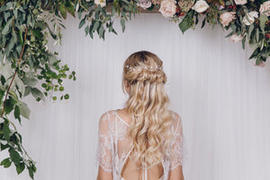 silver wedding hairvine