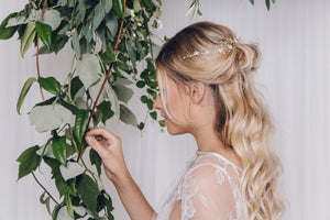 silver bridal hairvine