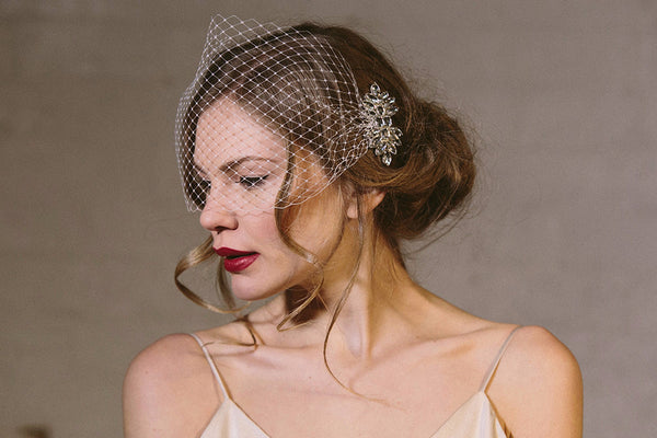 Wedding hair comb by Debbie Carlisle