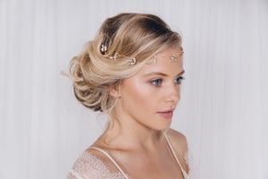 Swarovski crystal wedding headband hairvine in rose gold, silver or gold - Anya