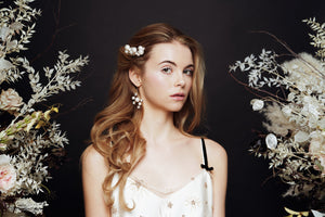 Swarovski Crystal star and pearl cluster hairpins - Astra