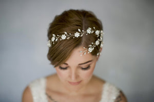 Deco inspired crystal wedding hair vine comb - Blanche