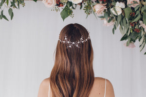Delicate flower crown wedding halo circlet - Cornelia