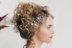 small crystal flower wedding headpiece