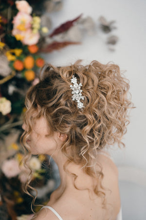 crystal wedding updo comb