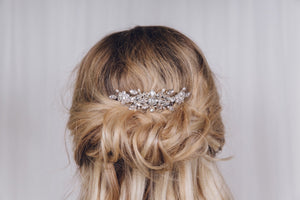 Elegant Swarovski crystal and pearl bridal hair comb - Elsa