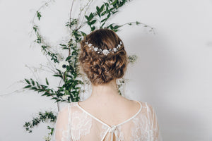 Up do wedding circlet