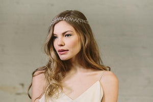 Bohemian rustic wedding headband
