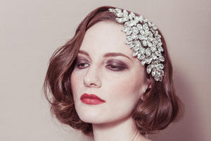 Hattie statement deco crystal rhinestone bridal headpiece