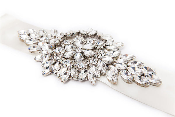 Hattie statement crystal vintage Gatsby style wedding belt