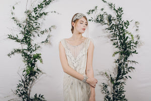 Gatsby crystal wedding headband
