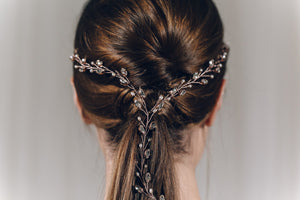 Plait hair vine in rose gold Swarovski crystal - India Y hairvine