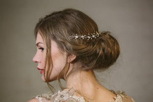 Isabella floral crystal wedding headpiece hair vine