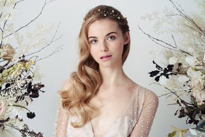 Larissa celestial star wedding hairvine by Debbie Carlisle Moonlight collection