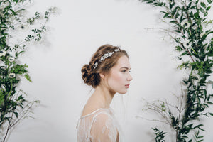Lucia bridal hair comb with Saffron wedding hair pins
