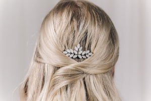 Swarovski crystal wedding hair comb in opal - Luna