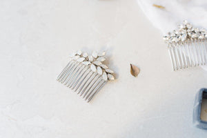 Opal wedding hair comb