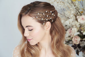 Lunella Swarovski Crystal star cluster hairvine by debbiecarlisle.com