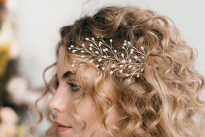 Large pearl wedding hairpins