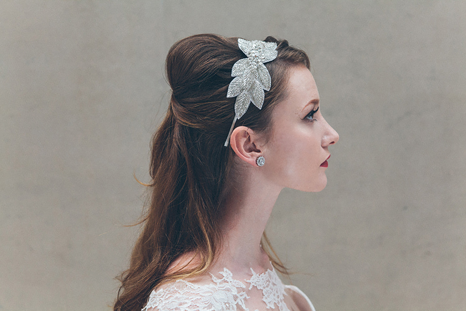 Odette statement crystal wedding headband