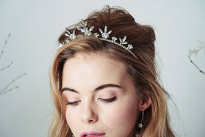 Silver Star crown tiara in Swarovski Crystal - Orion