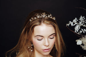 Gold Star tiara and earrings set