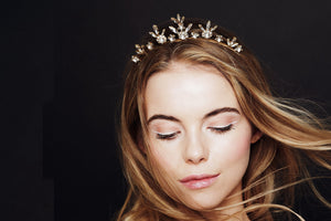 Star crown delicate celestial tiara in Swarovski Crystal - Orion