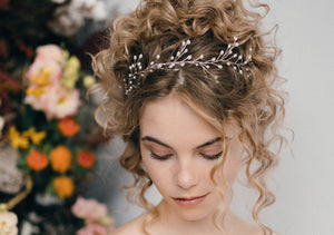 pearl leaf wedding tiara