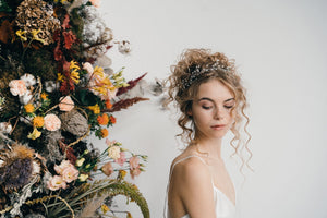 pearl leaf wedding hairvine