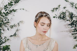Statement sparkling crystal wedding headband