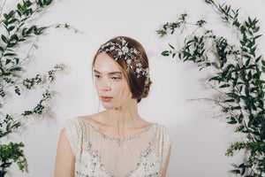 Bohemian crystal bridal wedding headdress