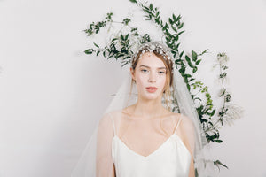 Ethereal vintage wedding headdress veil